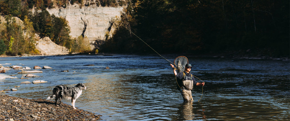 Cattaraugus river fishing