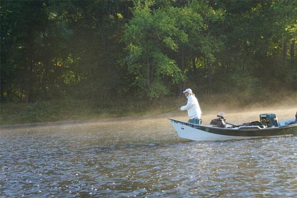 river boat fishing